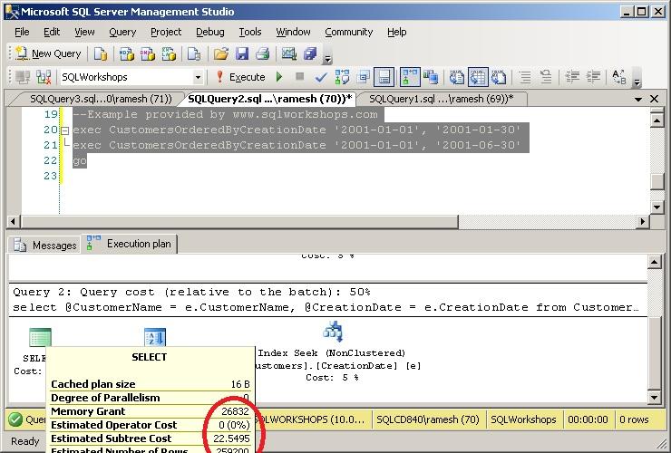 exec statement inside stored procedure